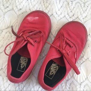Toddler boy red Vans💗